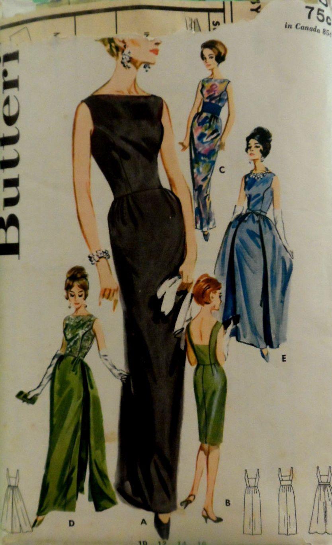 60s Cocktail Dress Evening Dress Patterns Vintage Dress Patterns Vintage Fashion [ 1370 x 834 Pixel ]