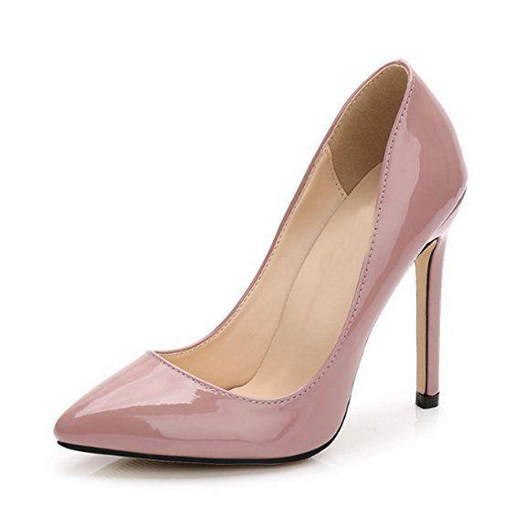 Xianshu Womens Fashion Shallow Mouth Closed-Toe High Heel Shoes Pumps(Rose-37 EU) 0rM0jFhcl