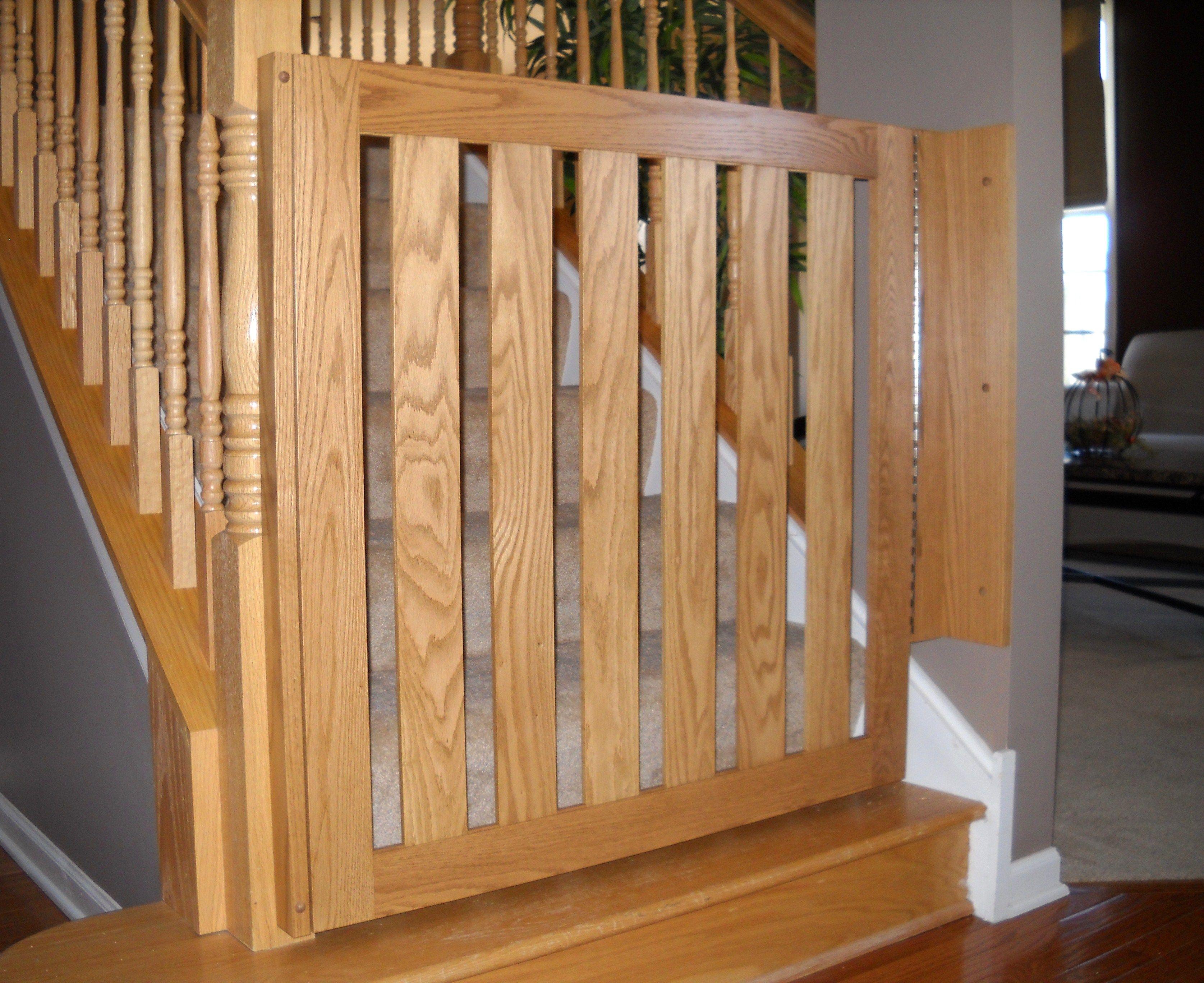 White Oak Banister Baby Gate Baby Safety Gates Child