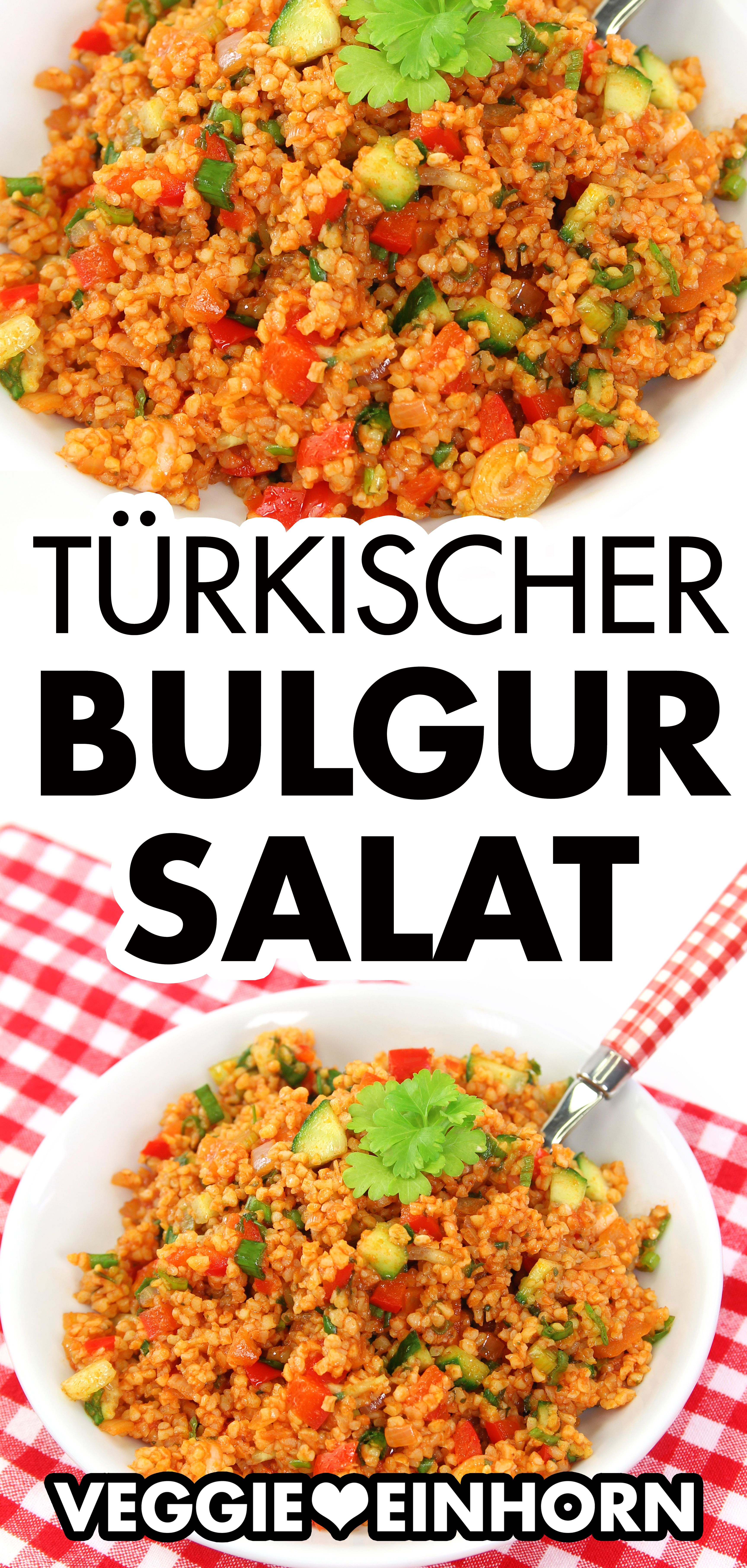 Vegetarischer Bulgur Salat | Einfacher Bulgursalat auf türkische Art