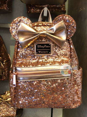 fd04fd4647e DLR - Minnie Rose Gold Sequin Backpack by Loungefly