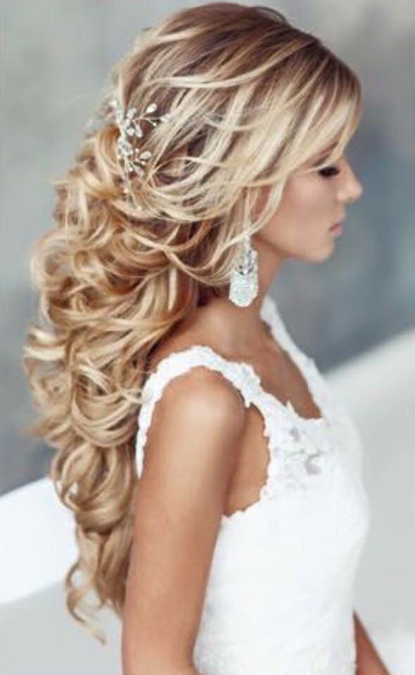 Long Wedding Hairstyles Cabello Largo Peinado Novoa  Peinados Novia Cabello Largo  Pinterest