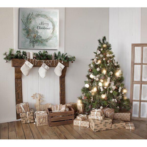 """""""Frohe Weihnacht-Kiefern-Kranz"""" Textkunst   – Home Decor"""