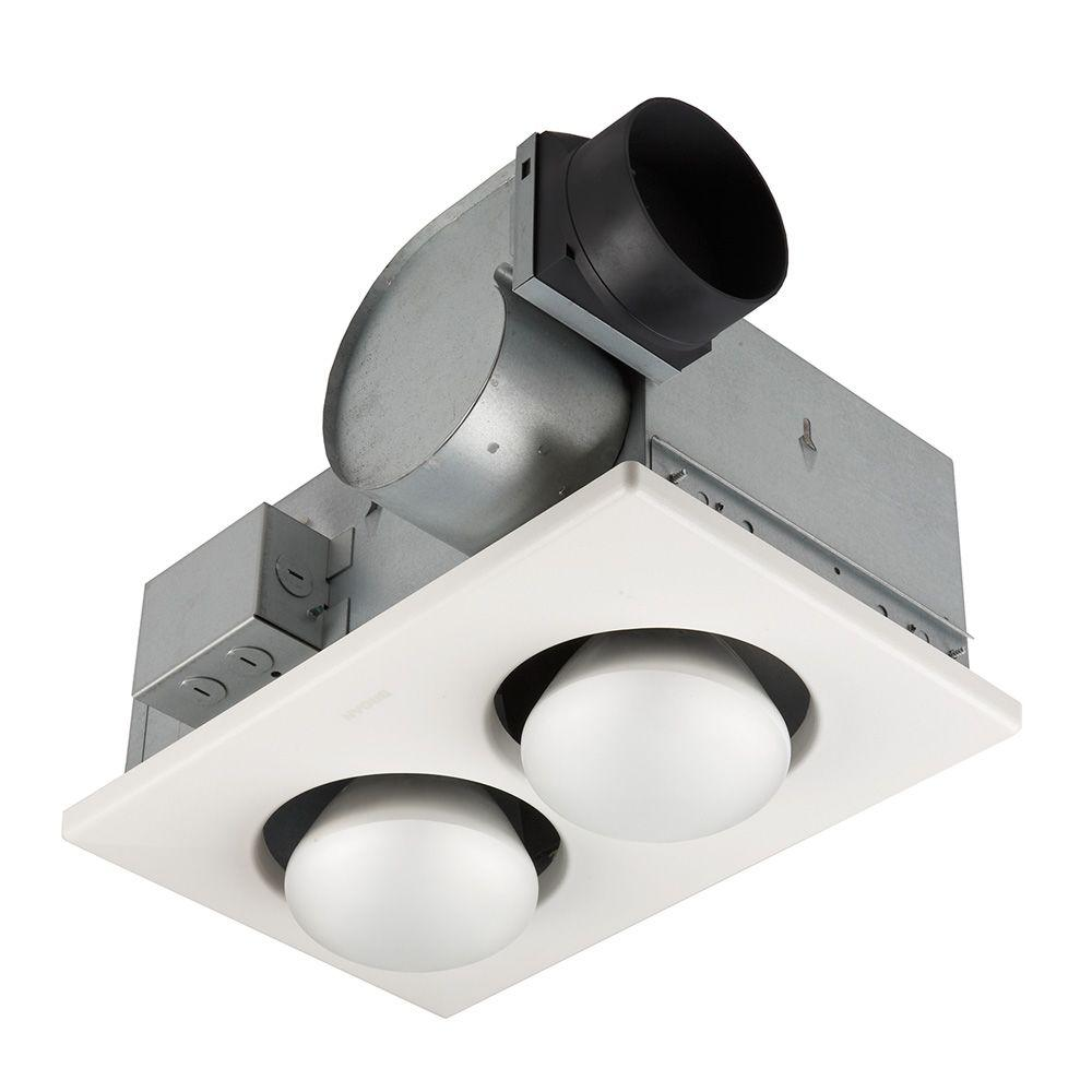 Nutone 70 Cfm Ceiling Bathroom Exhaust Fan With 250 Watt 2 Bulb