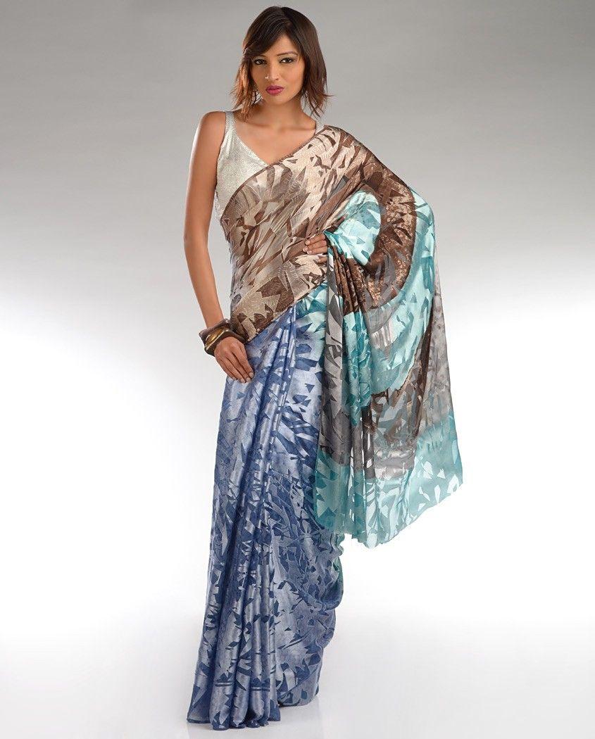 satya paul burnout sari