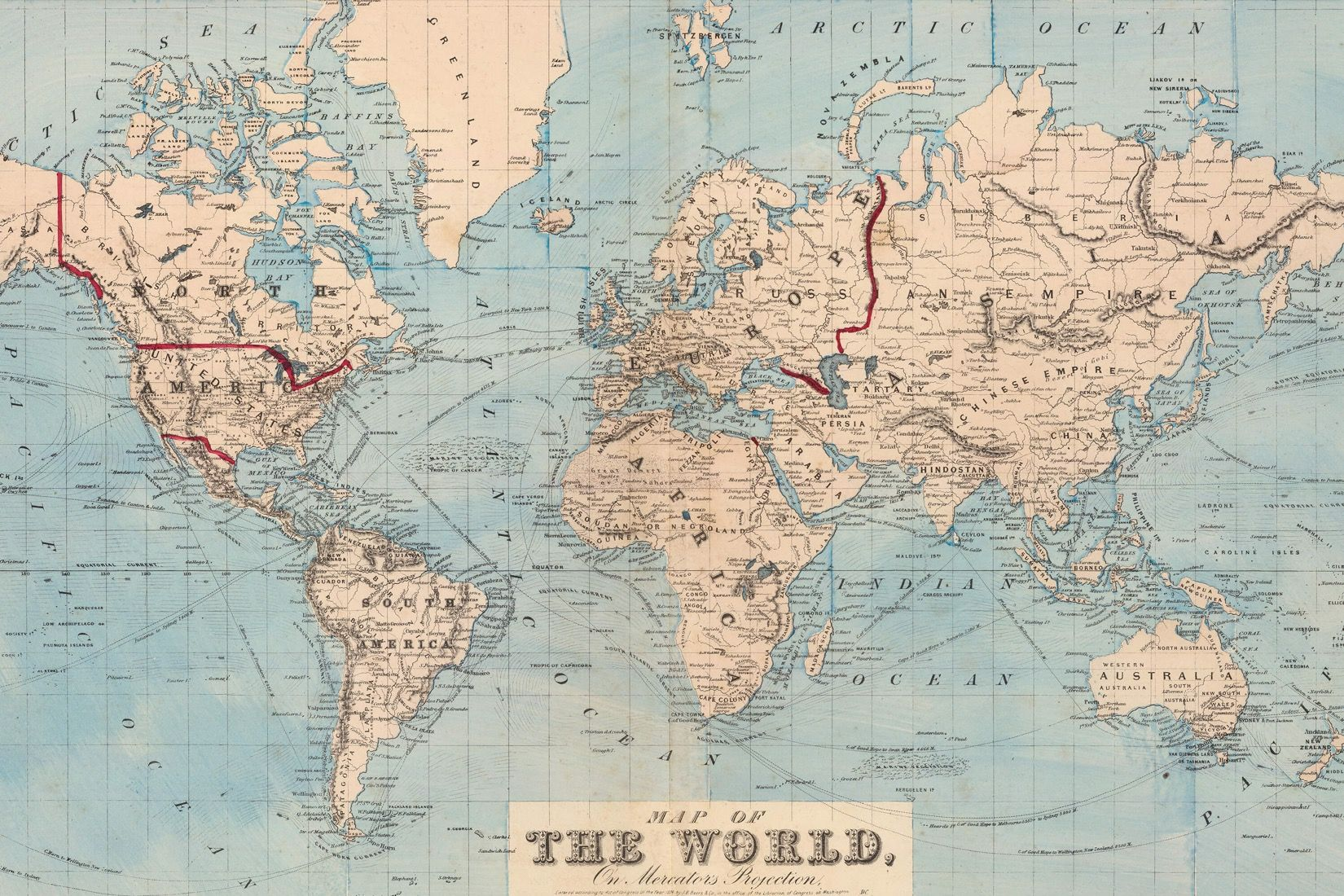 Vintage blue map of the world mural muralswallpaper vintage blue map of the world gumiabroncs Choice Image