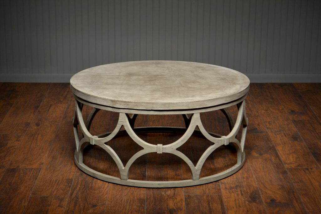 outdoor concrete round rowan coffee table with images on modern farmhouse patio furniture coffee tables id=56622