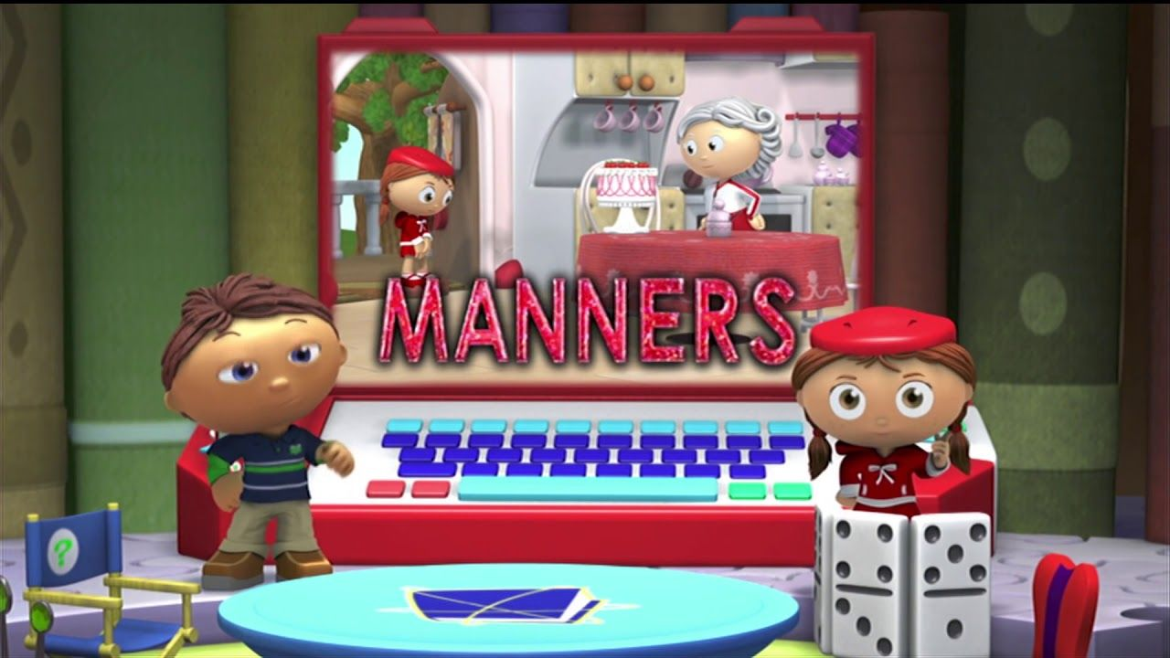 Bandschuurmachine Praxis Super Why Red Uses Her Manners Pbs Kids Entertainment Pbs
