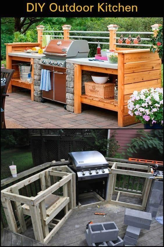 9 diy outdoor kitchen diy easy ideas and tutorial eonique com modern design in 2020 diy on outdoor kitchen easy id=28722