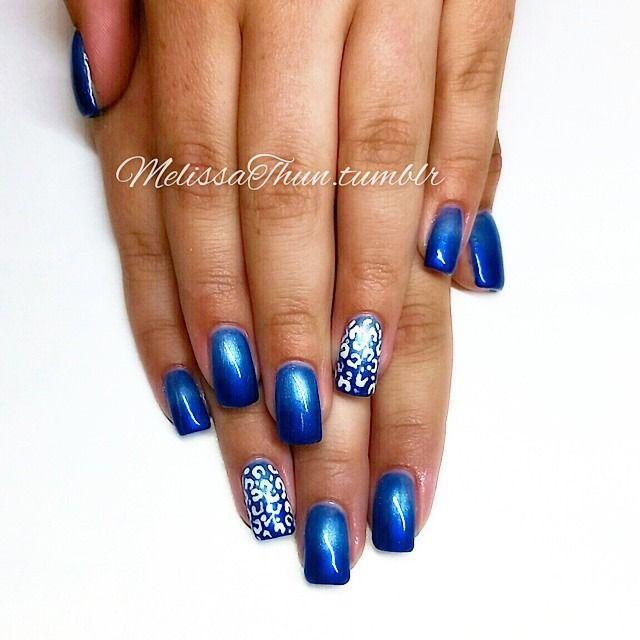#nails #nailart #nailsmagazine #nailpromagazine #nailitmag #nailpornography #nailporn #prettynails#blueombre#chettah