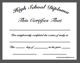 Download Homeschool High School Diploma Templates School