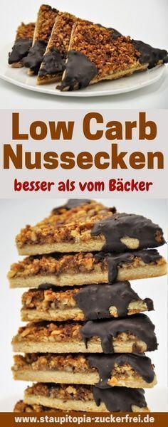 Low Carb Nussecken besser als vom Bäcker - Staupitopia Zuckerfrei