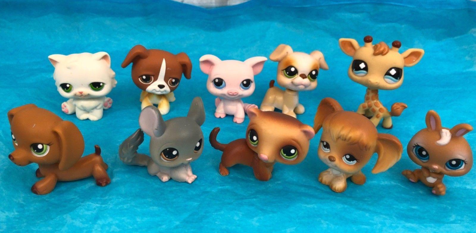 Littlest Pet Shop Lot Of 10 Dachshund Pig Bunny Puppy