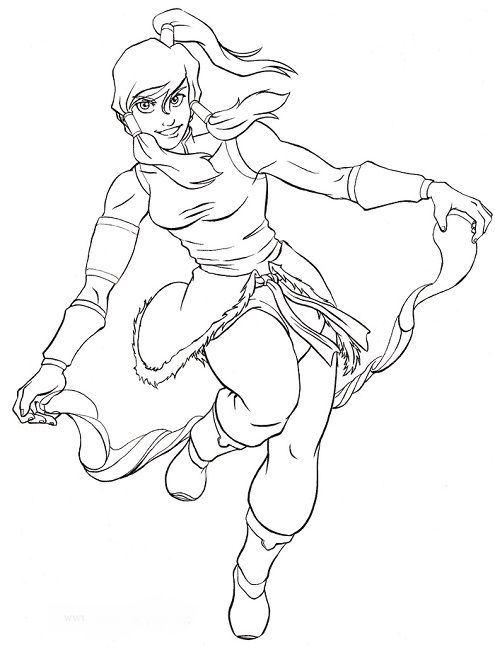 avatar korra coloring pages | Anime | Pinterest | Korra and Coloring ...