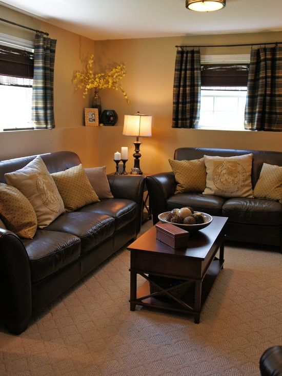 How To Have A Bright Room With Dark Leather Couches Pin