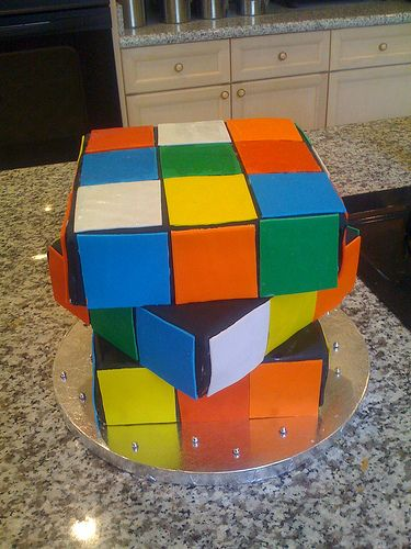 Rubiks cube cake by Robyn Story Cakes, via Flickr