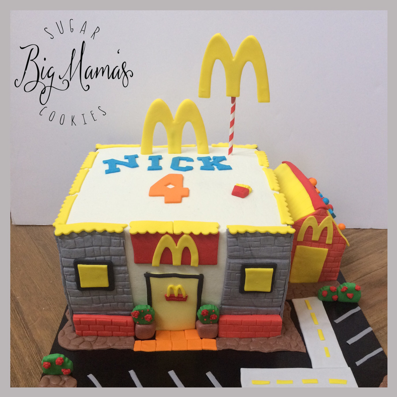 Fantastic Mcdonalds Cake Celebration Cakes Mc Donald Birthday Special Cake Birthday Cards Printable Nowaargucafe Filternl