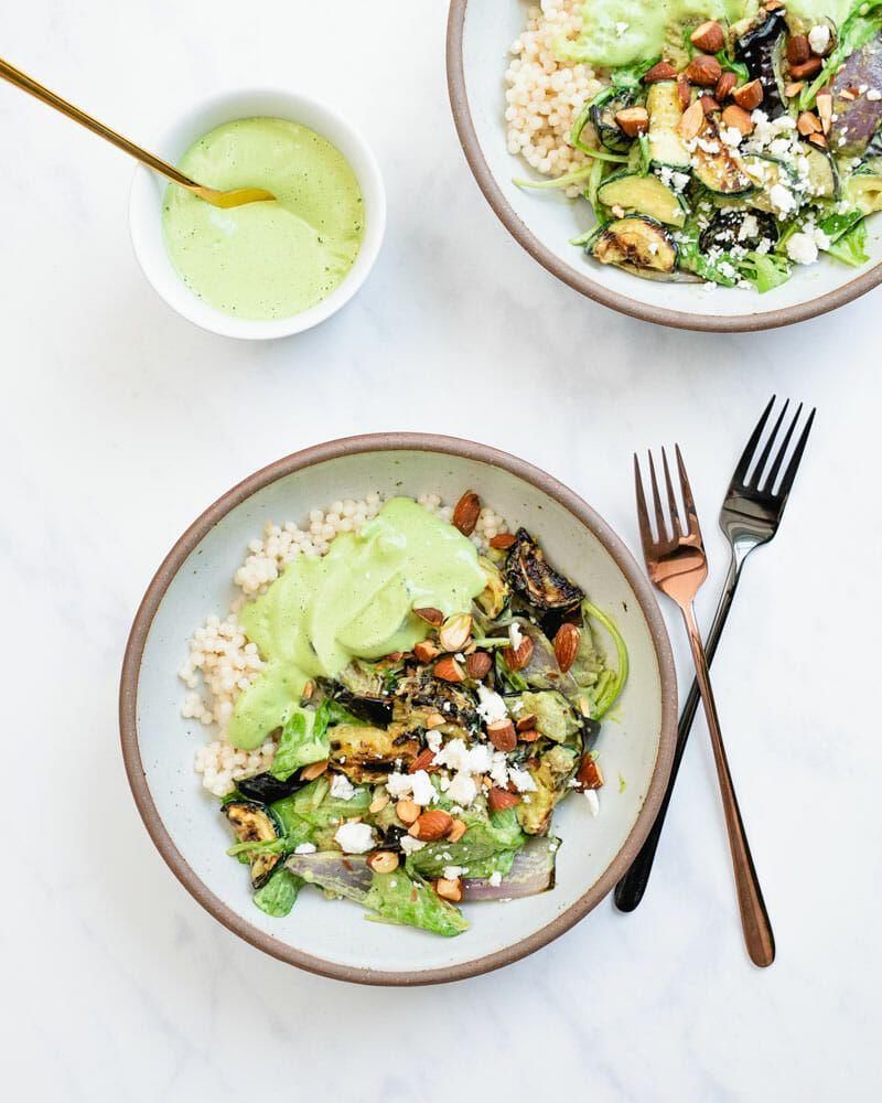 Green Goddess Salad Bowls A Couple Cooks Recipe Green Goddess Salad Recipe Main Dish Salads Salad Bowls [ 1000 x 800 Pixel ]