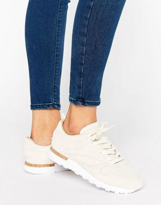 7c85d0a7eb Reebok Classic Leather Lst Sneakers With Cork Sole