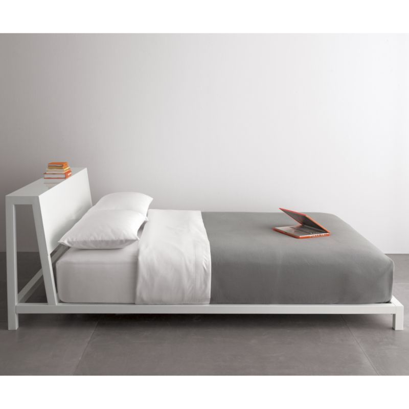 queen bed side view. alpine white king bed in bedroom furniture queen side view