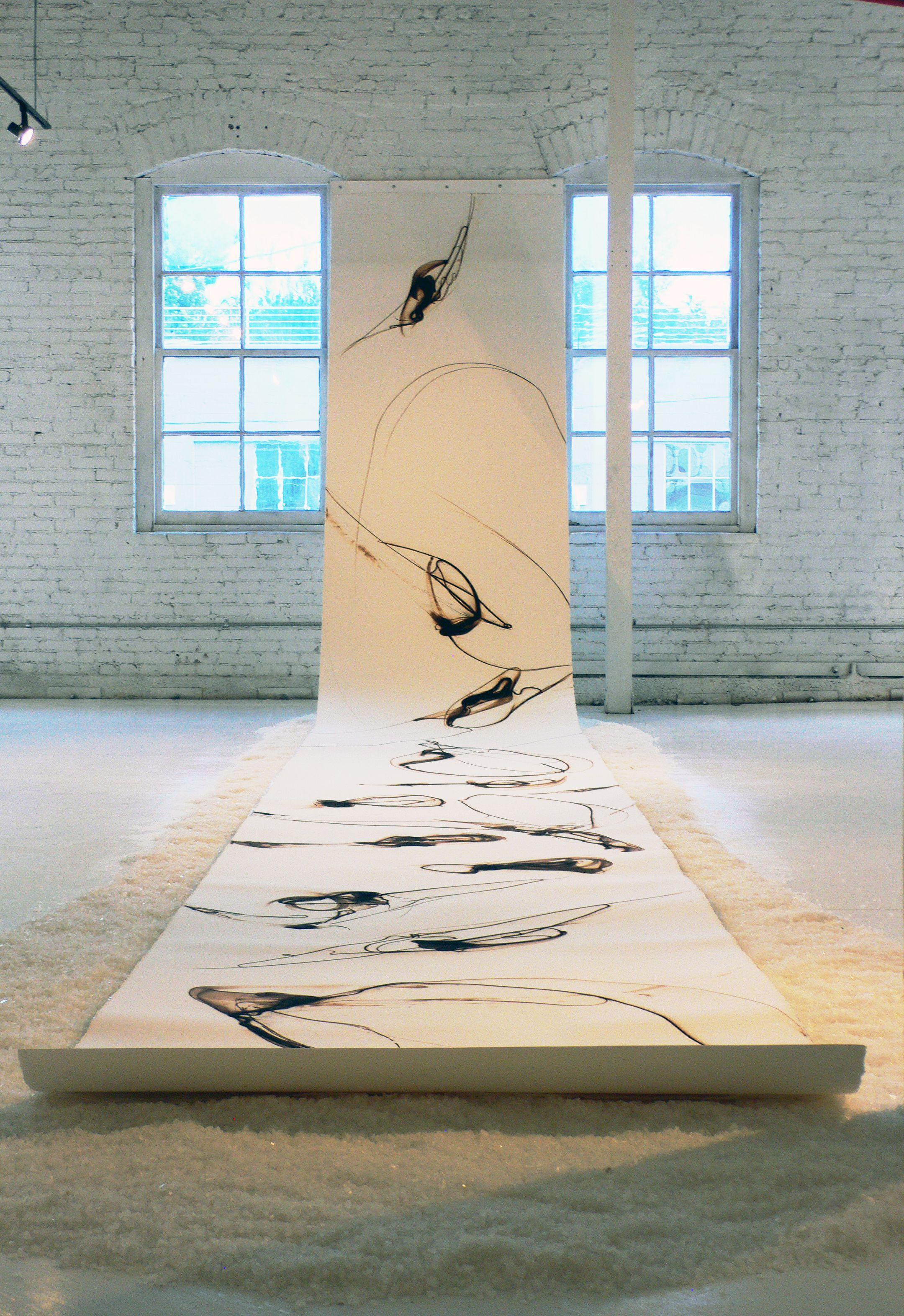 seattle artist etsuko ichikawa s glass pyrograph on paper laid out
