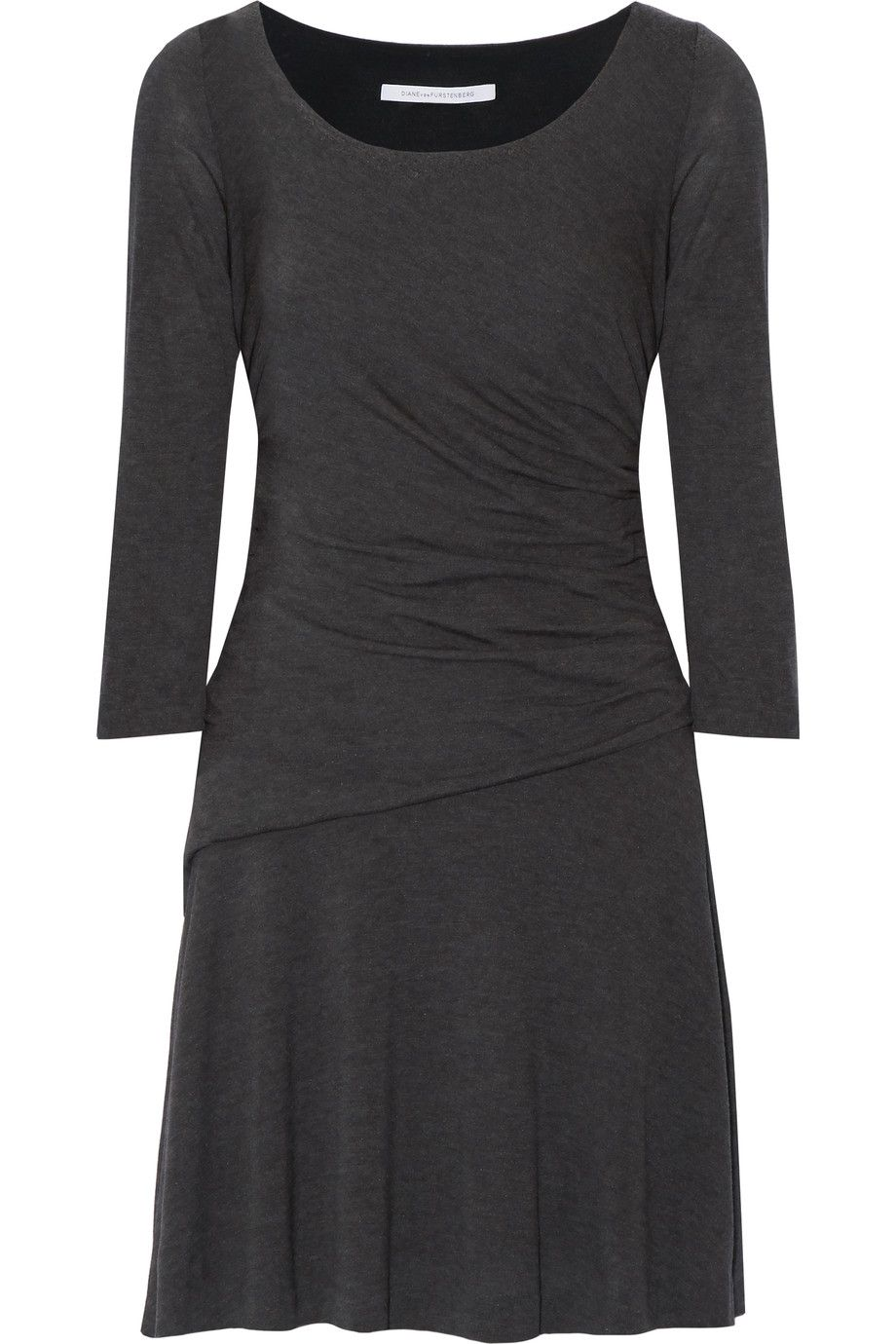 DIANE VON FURSTENBERG Nerissa Gathered Stretch-Jersey Dress. #dianevonfurstenberg #cloth #dress
