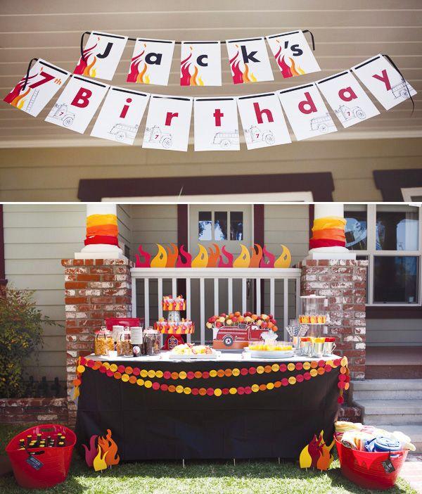 A Vintage Firetruck Birthday Party: {Super Amazing} Fire Truck Birthday Party