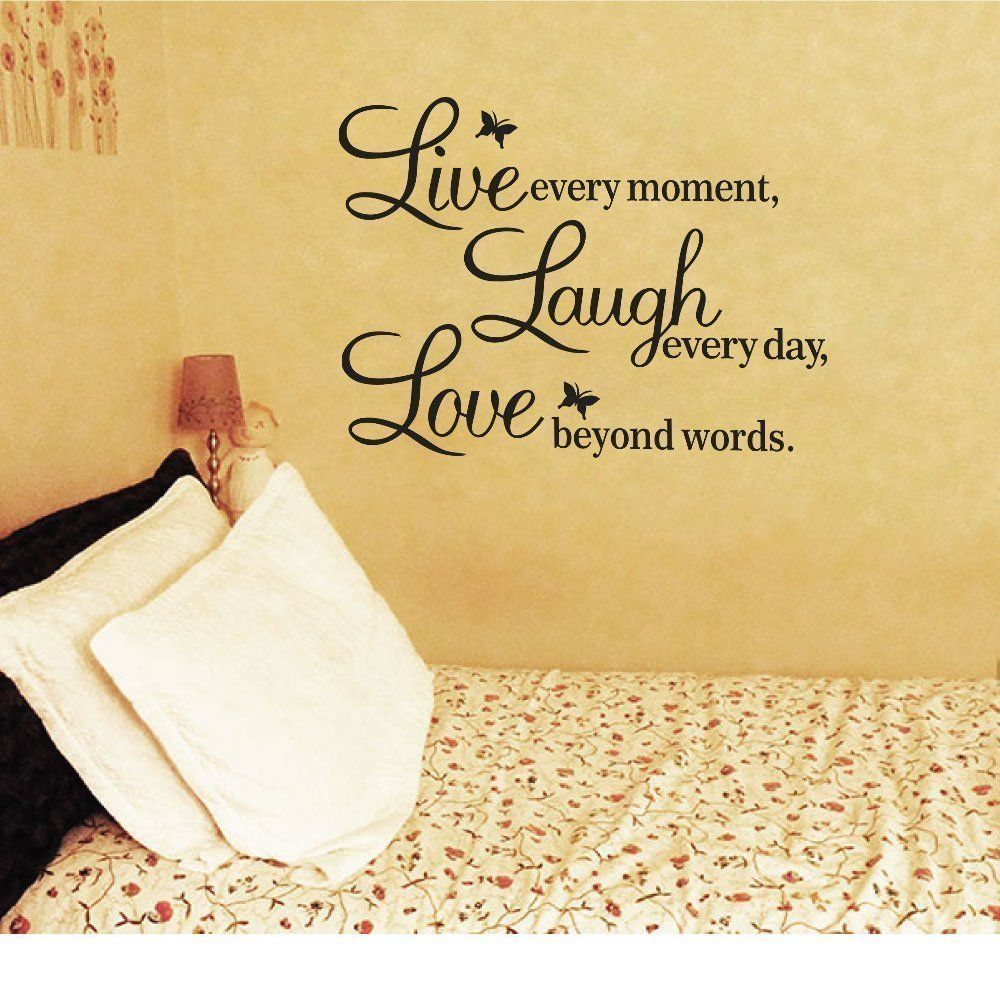 Amazon.com - Meco Vinyl Decal Live Every Moment, Laugh Every Day ...