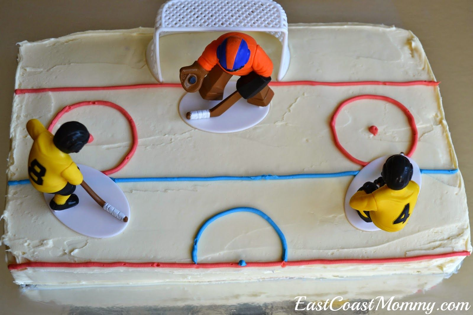 Marvelous Simple Diy Hockey Cakes Hockey Cakes Hockey Birthday Easy Diy Personalised Birthday Cards Cominlily Jamesorg