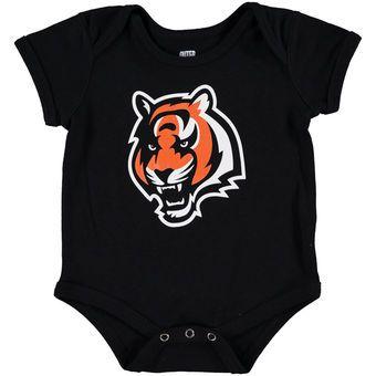 Newborn Cincinnati Bengals Black Team Logo Bodysuit