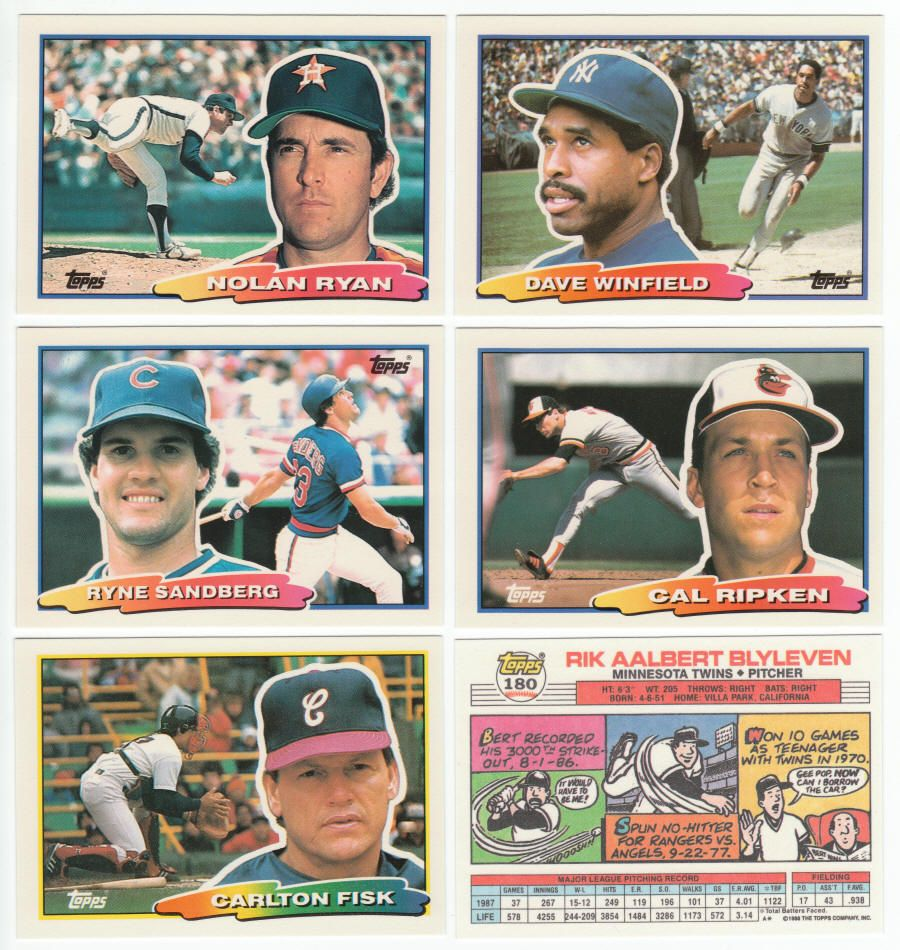 1988 Topps Big Baseball Cards Complete Set Of 264 Cards