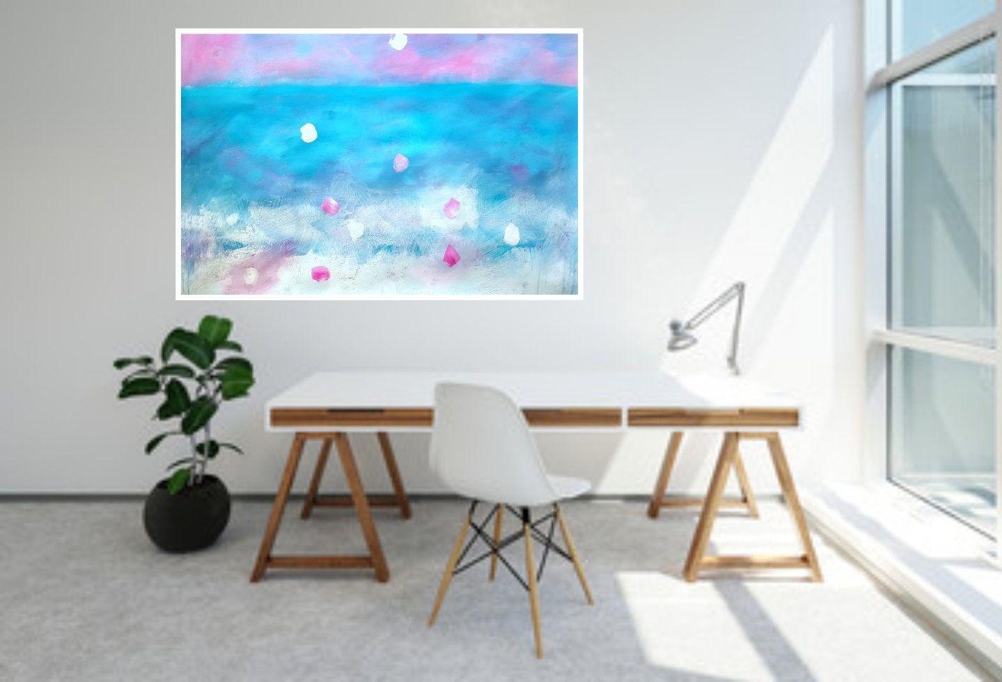 Printable Abstract Art horizontal painting, Modern art, Large art ...