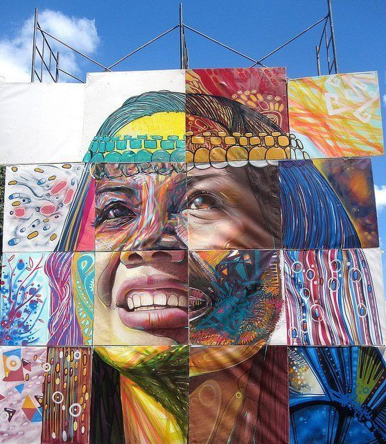 Graffiti Mural By The Members Of The Collective Alapinta In Temuco