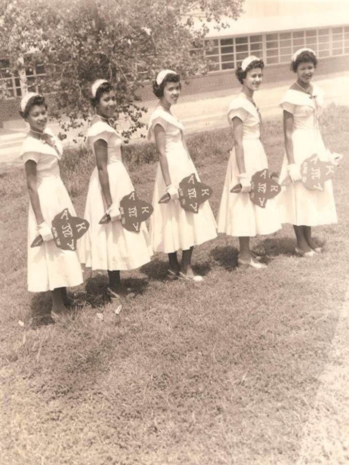 Vintage Texas College Alpha Kappa Alpha Sorority Pretty