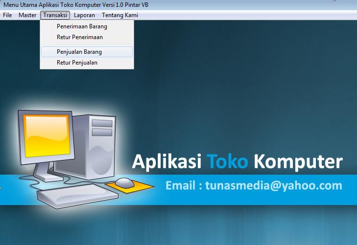 Gratis Aplikasi Toko Komputer Visual Basic 6 0 Aplikasi Komputer Belajar