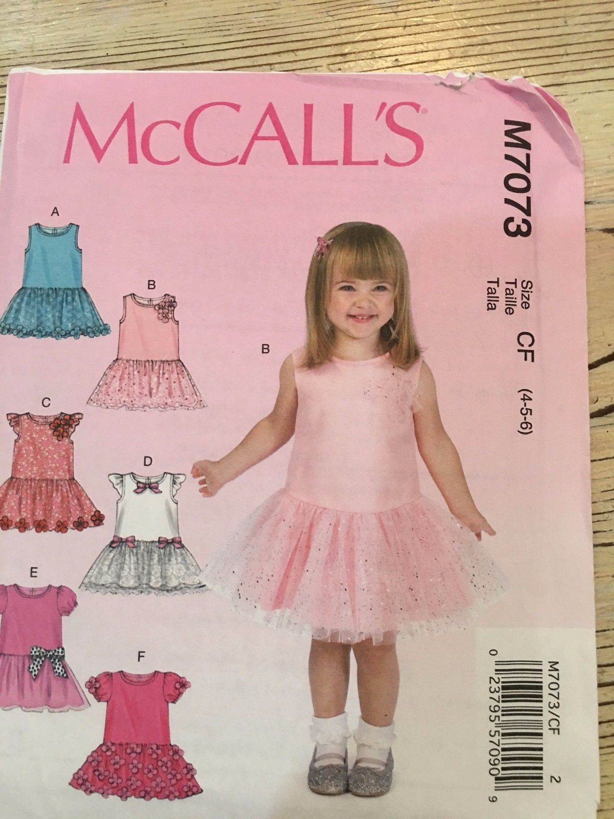 McCall\'s Pattern M7073 - Girls Dresses With Gathered Skirts 6 Views ...