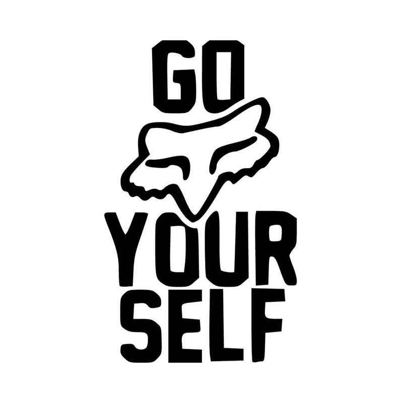Fox racing go fox yourself logo vinyl decal sticker