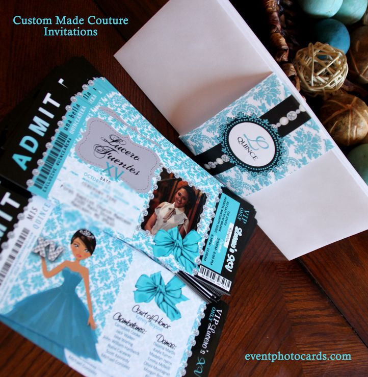 quincenera themes Fancy Quinceanera Invitations Beautiful