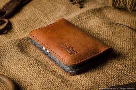 Leather Business Card Holder Credit Bank Card Holder