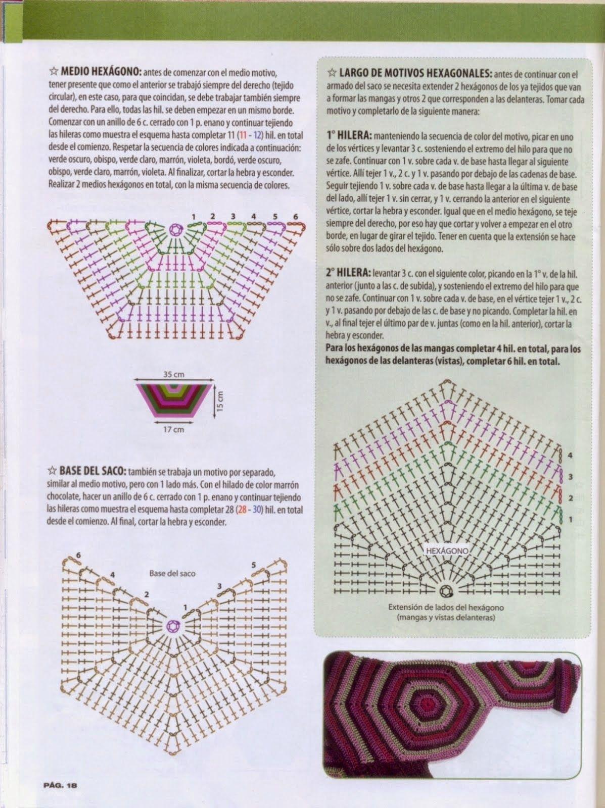 DE MIS MANOS TEJIDOS Y MAS... | Crochet diagrams | Pinterest ...