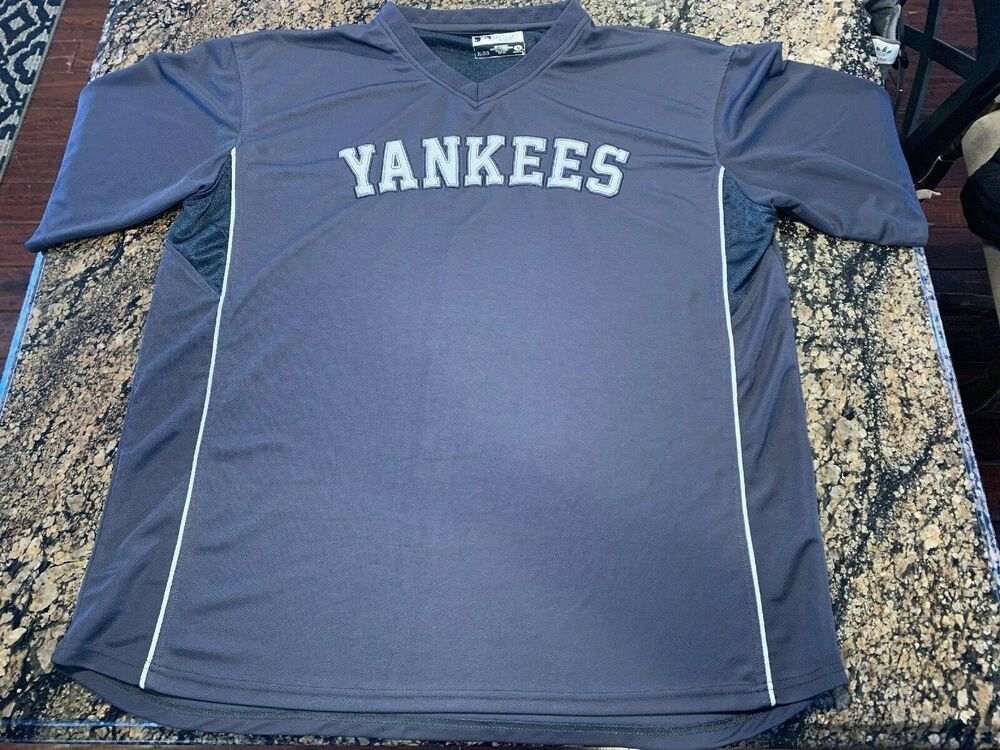 hot sale online 2f9cf 908b2 MLB NEW YORK YANKEES NYY MENS XL V NECK JERSEY PULLOVER ...