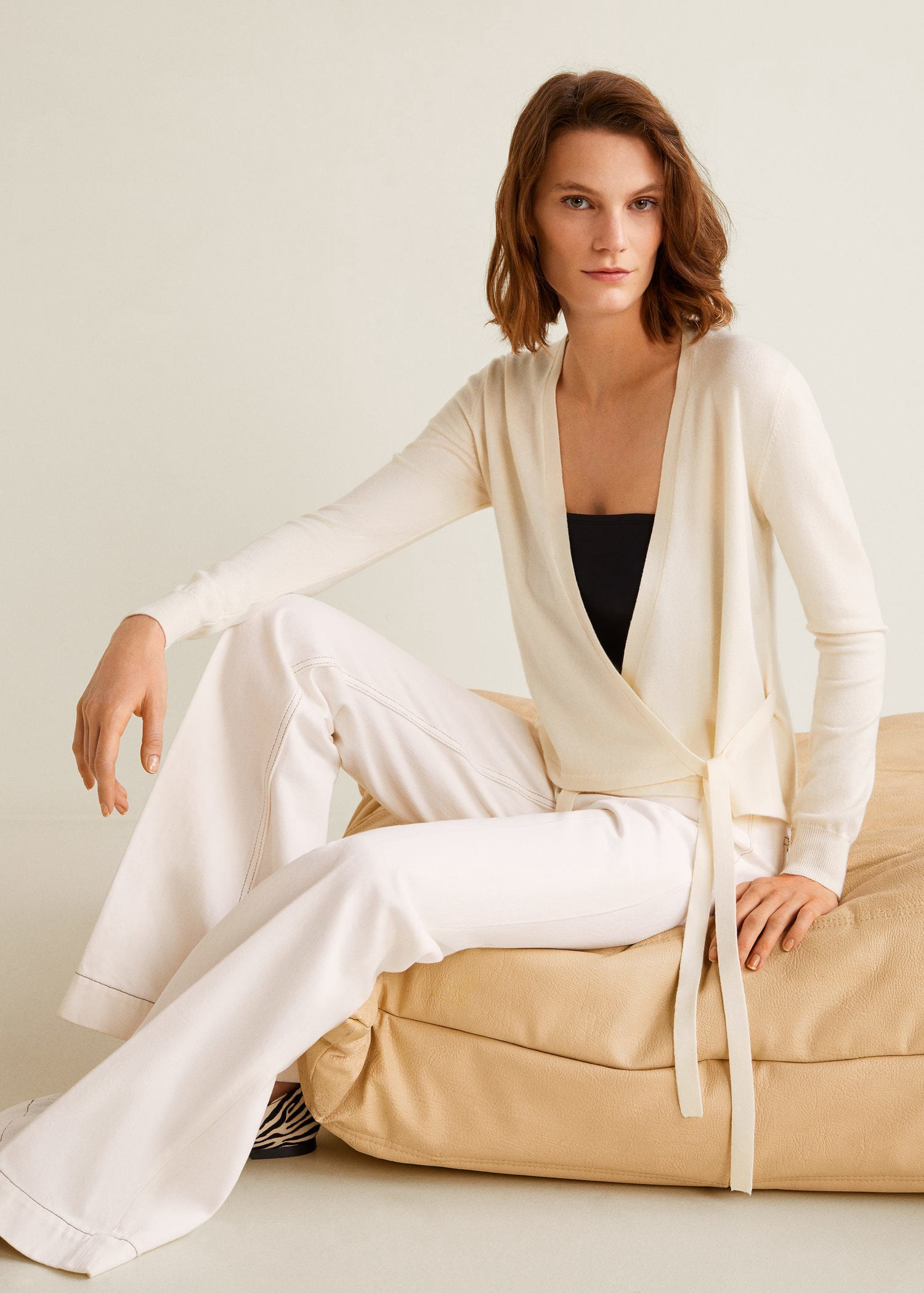 Wrap tied cardigan by Mango in 2019  e94d93a62