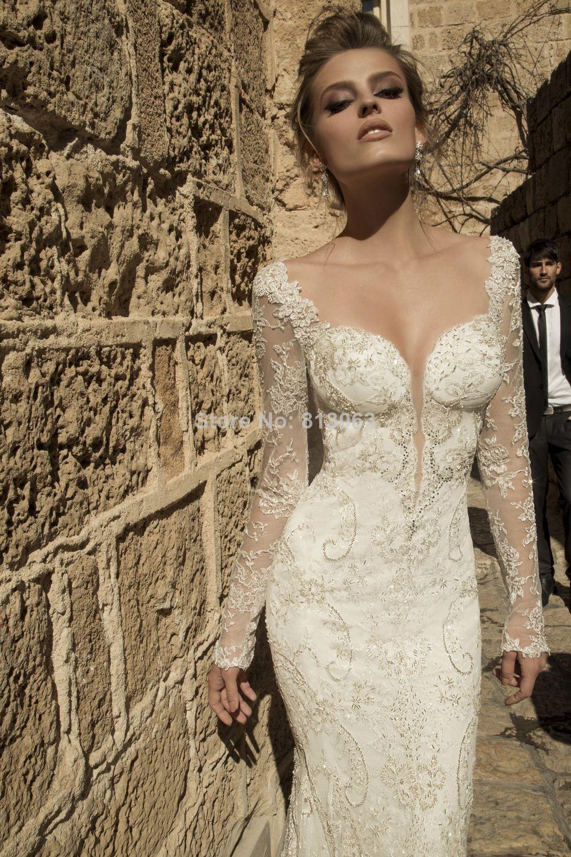vestidos de novia estilo sirena con manga larga , Buscar con Google