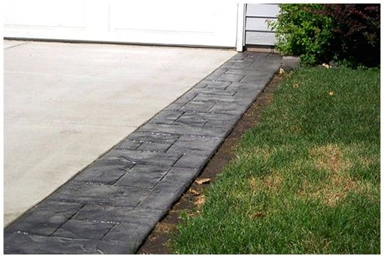 Get Pavers Installed Along The Edge Of The Driveway Stamped Concrete Driveway Driveway Design Concrete Driveways