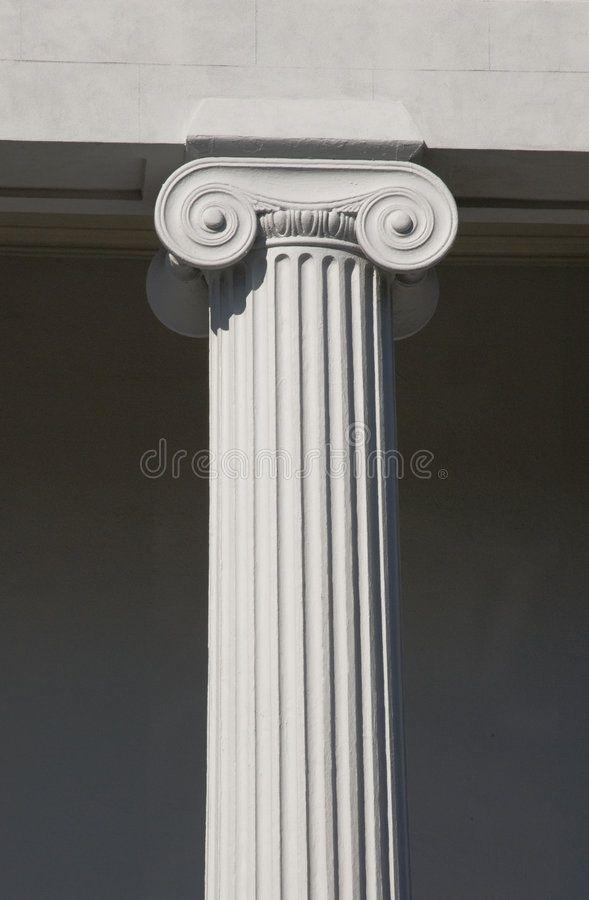 Column Detail of columns on historic building Charleston SC