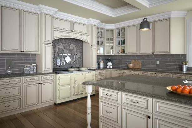 Signature Vanilla Glaze Ready To Assemble Kitchen Cabinets The