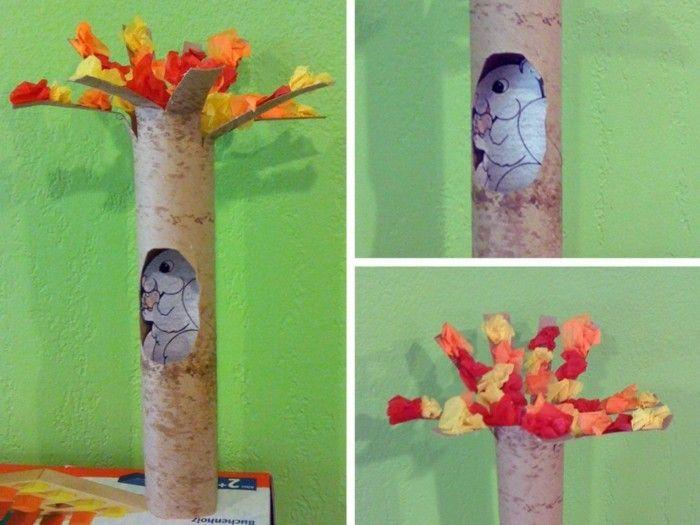 Herbstbasteln Mit Kindern Herbstdeko Selber Machen Basteln Klopapierrollen Eichnchen