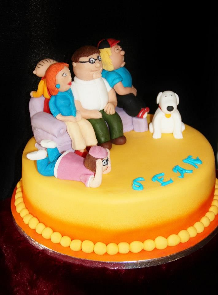Awesome Family Guy Cake With Images Cake Bithday Cake Cakes For Men Personalised Birthday Cards Veneteletsinfo