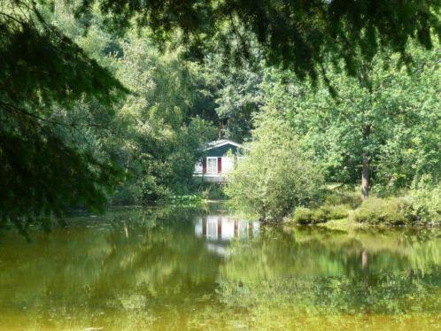 Te koop luxe bos chalet op rustig recreatiepark dalfsen for Klein huisje in bos te koop