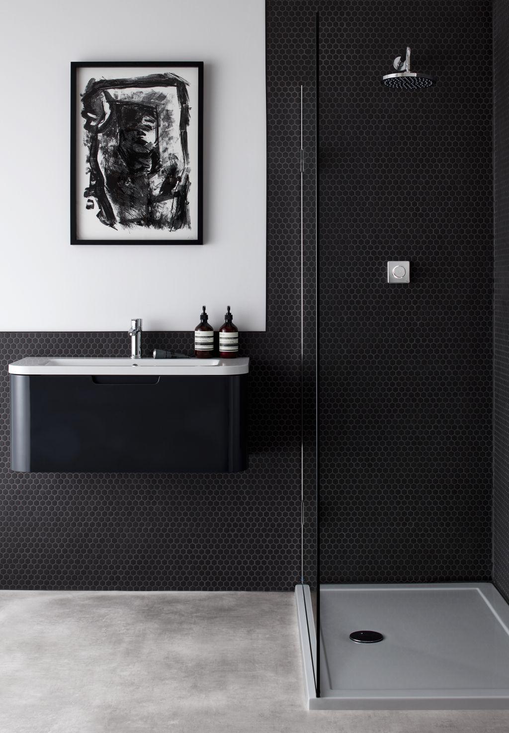 Black bathroom    #bathroomideas #bathroomdesign #bathroominspo #realhomes